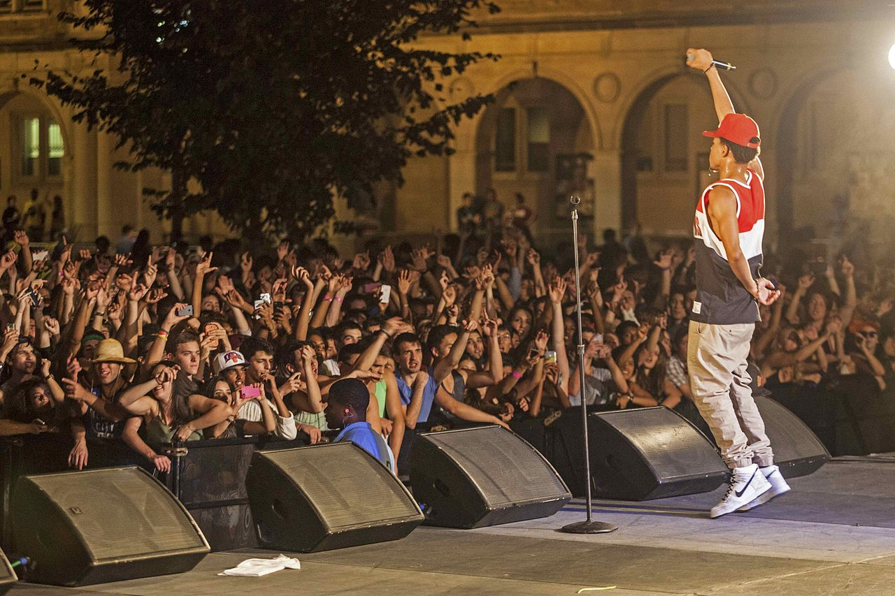 Chance the Rapper performing