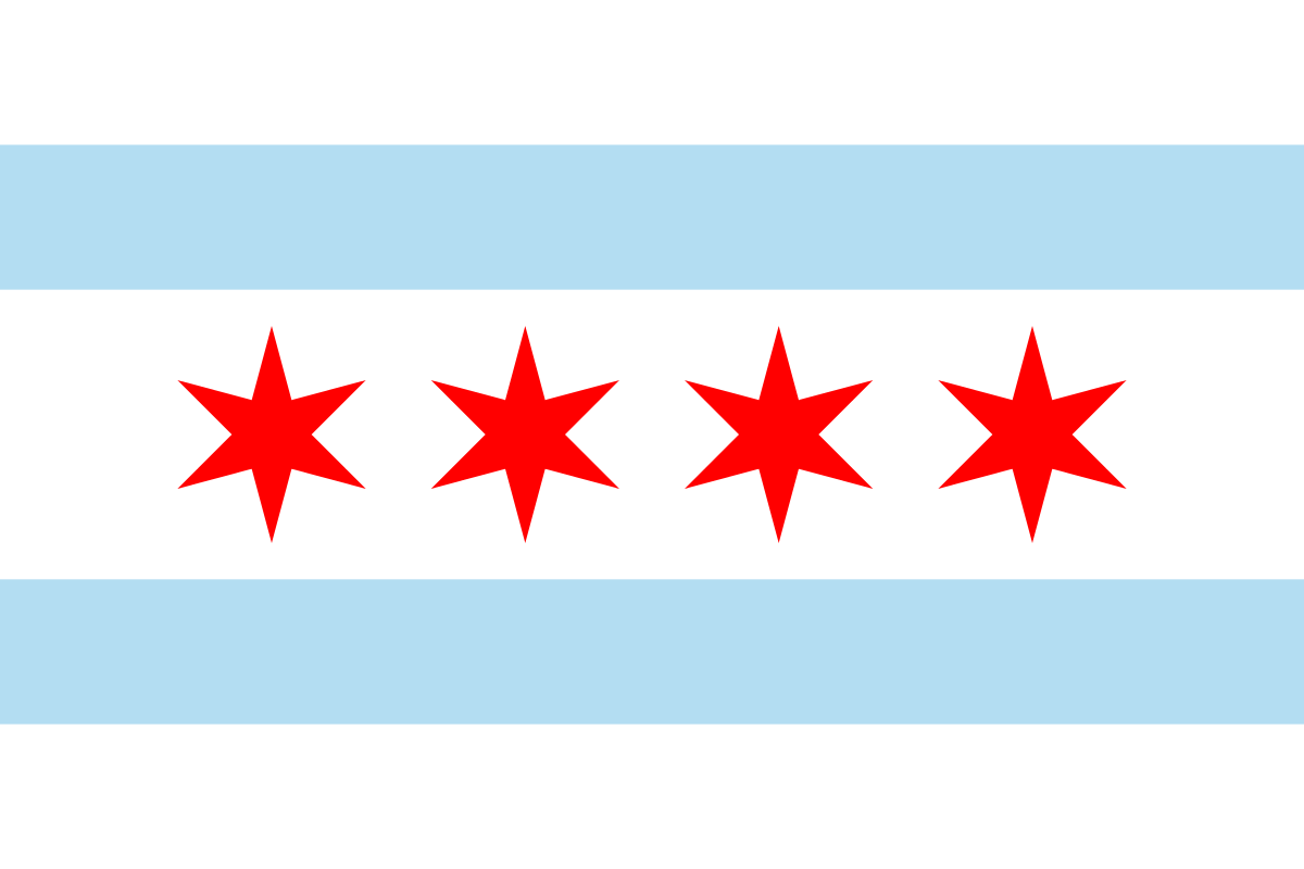 Chicago flag.