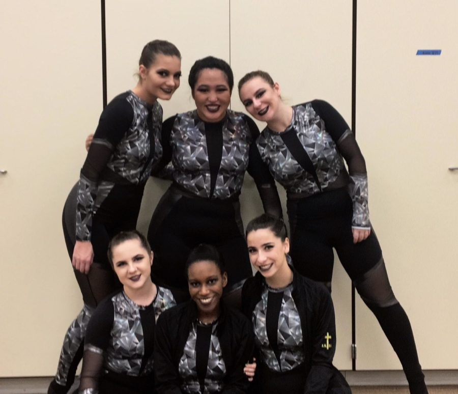 Some SICP dance team seniors commemorate their last first competition.