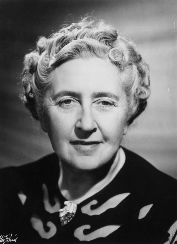 A portrait of Agatha Christie.