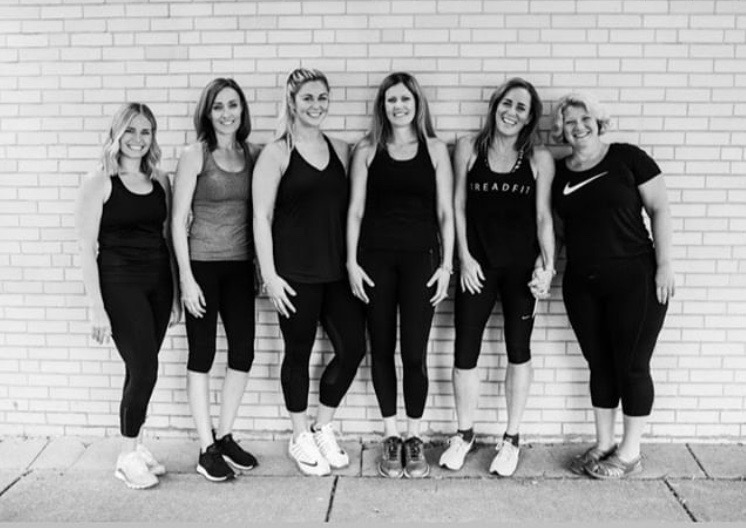 Pictured Treadfit Instructors from left to right: Kellianne McDonough, Jennifer Harkins, Caitlin Harrigan, Dawn Courtney, Colette Fitzgerald, Cathy O'Grady