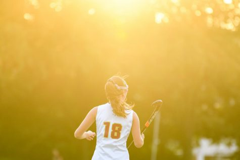 Lauren Jasen in the Ignatius vs. Woodlands field hockey game.