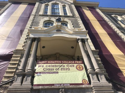 Saint Ignatius sign honoring their Class of 2020.