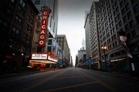 An empty State Street reflects our current times Courtesy of Crain's Chicago Business