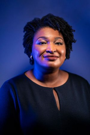 Stacey Abrams, leader of voter registration efforts in Georgia's 2020 elections.