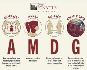 St. Ignatius' new take on AMDG in light of Covid restrictions.